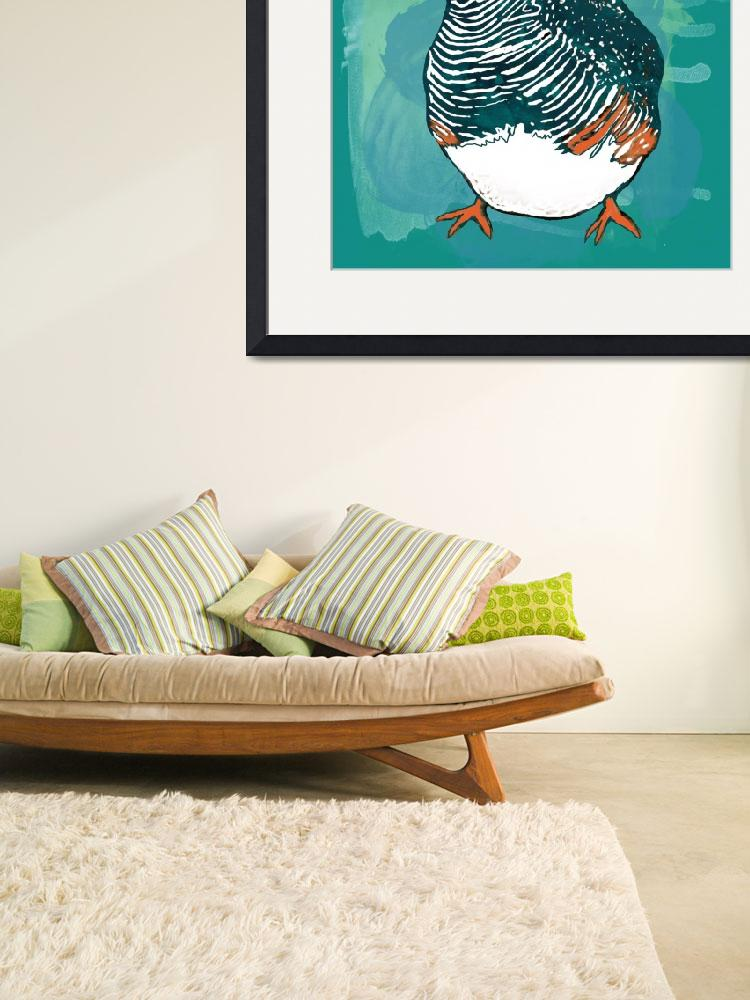 """Bird stylised drawing art poster&quot  (2014) by visualharbour"
