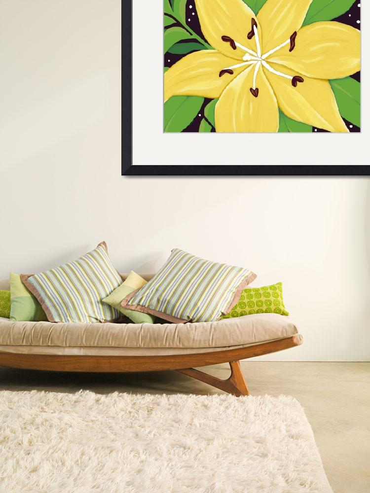 """A Yellow Lilly Two""  (2011) by SnarkyArt"