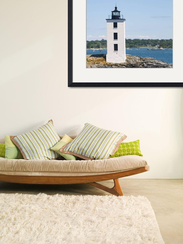 """""""Dutch Island Lighthouse&quot  (2012) by ValeriesGallery"""