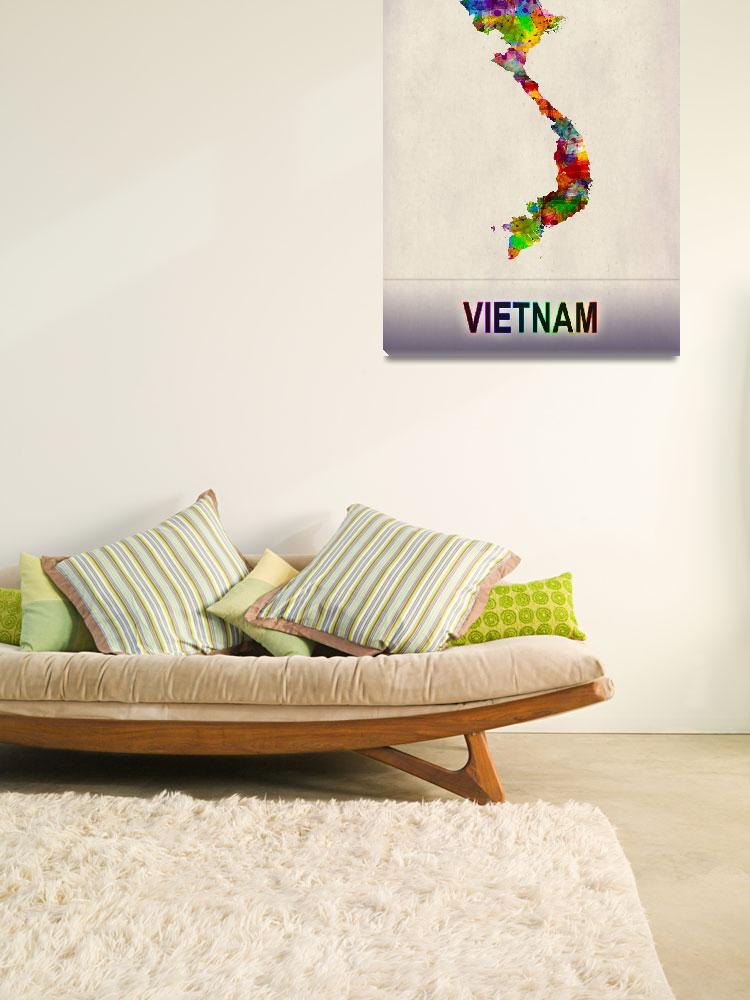 """""""Vietnam Map""""  by Towseef"""