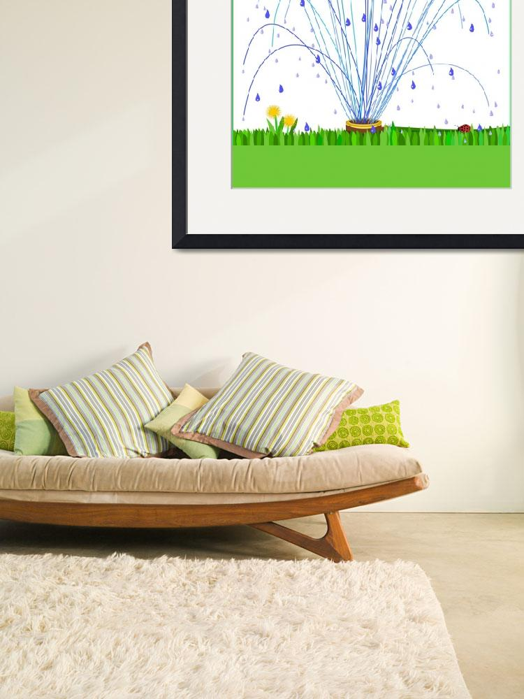 """""""Sprinkler and grass&quot  (2011) by debband"""