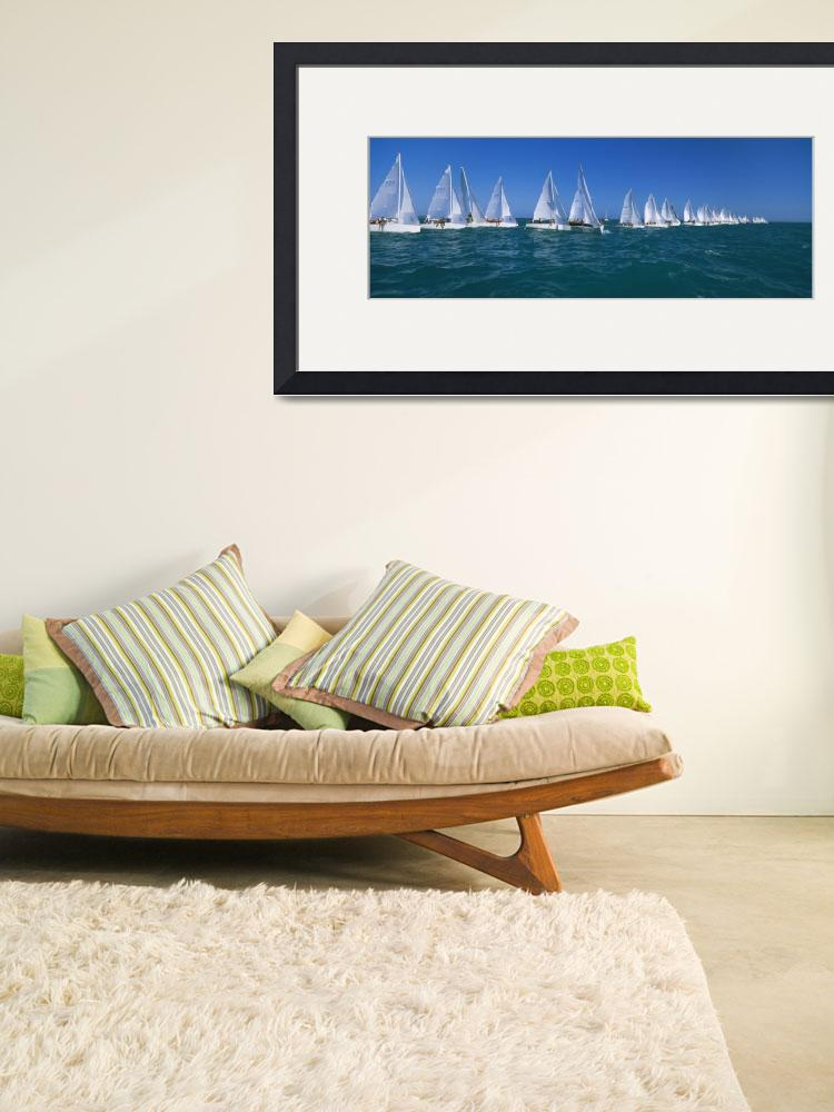 """Sailboat Race Key West FL&quot  by Panoramic_Images"