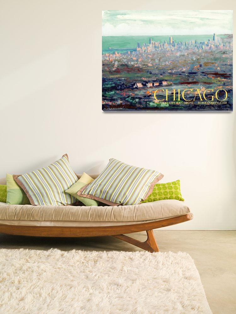 """""""Above Chicago Abstract Impressionism by Riccoboni&quot  by RDRiccoboni"""
