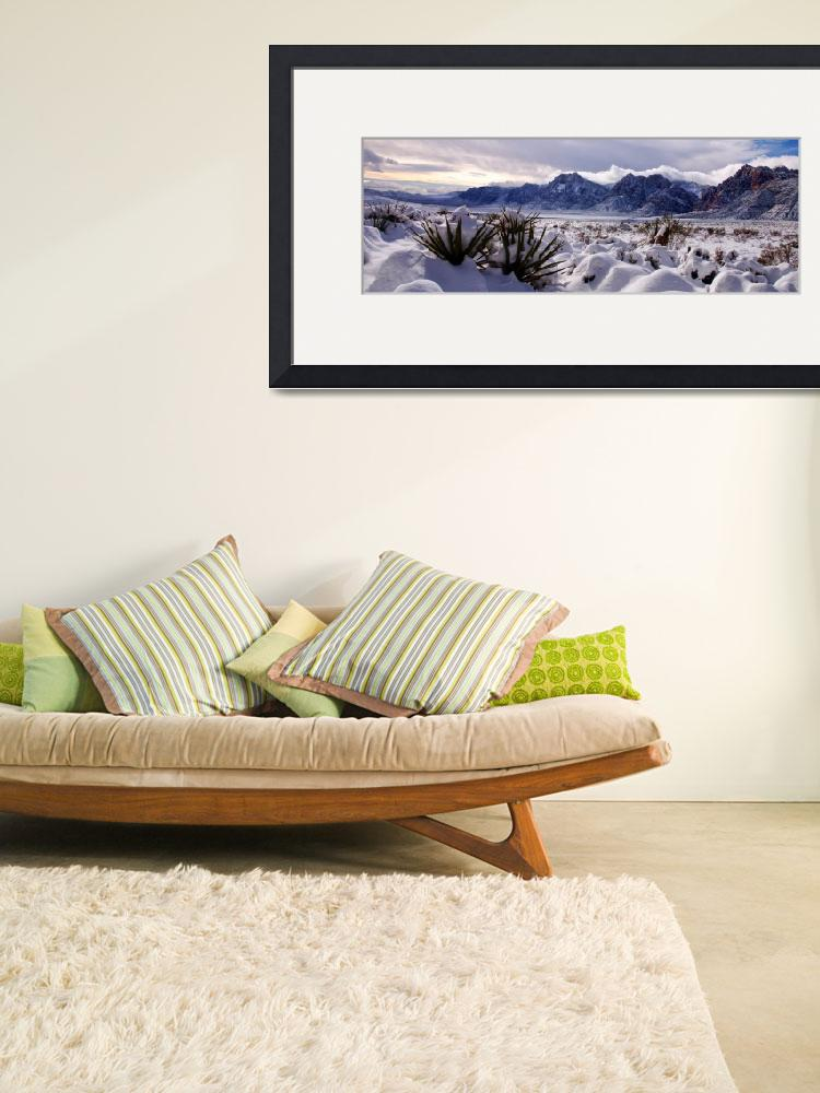 """""""Red Rock Snow, Panoramic No. 3&quot  (2008) by PadgettGallery"""