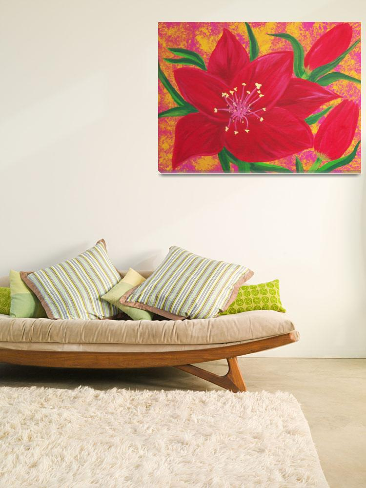 """""""Red Lily&quot  (2012) by elajanus"""
