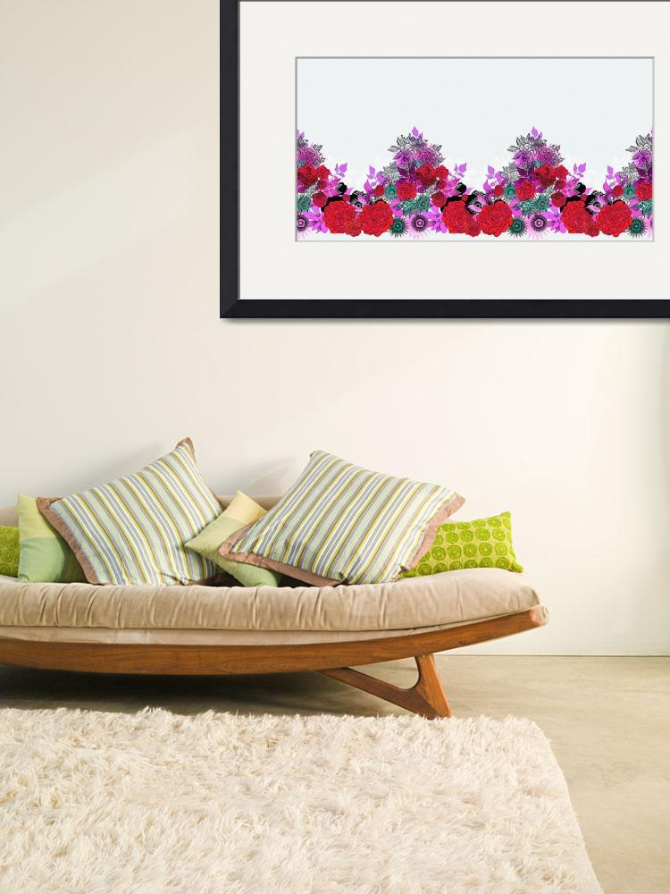 """""""Red Blooms Pink Leaves&quot  (2012) by MaryDolan"""