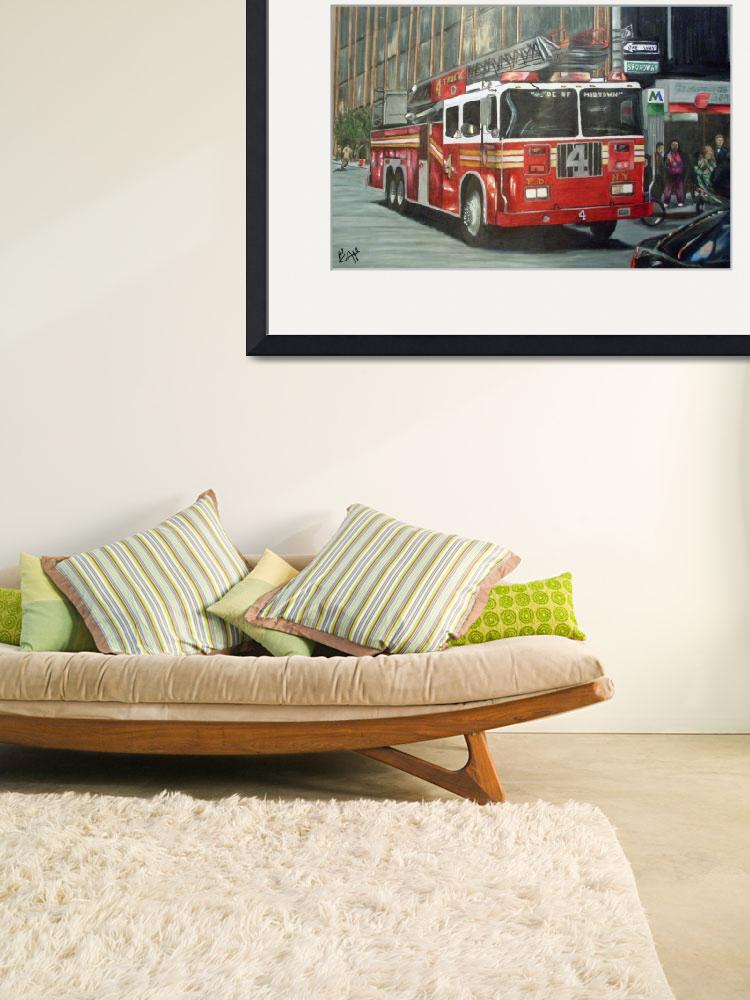 """""""NYFD Truck 4""""  (2009) by Alford"""