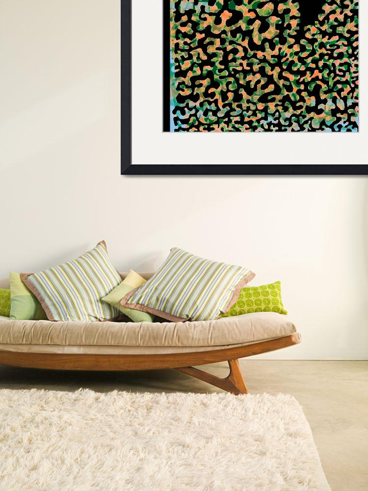 """""""Filigree 1 coral greens&quot  (2008) by LeslieTillmann"""