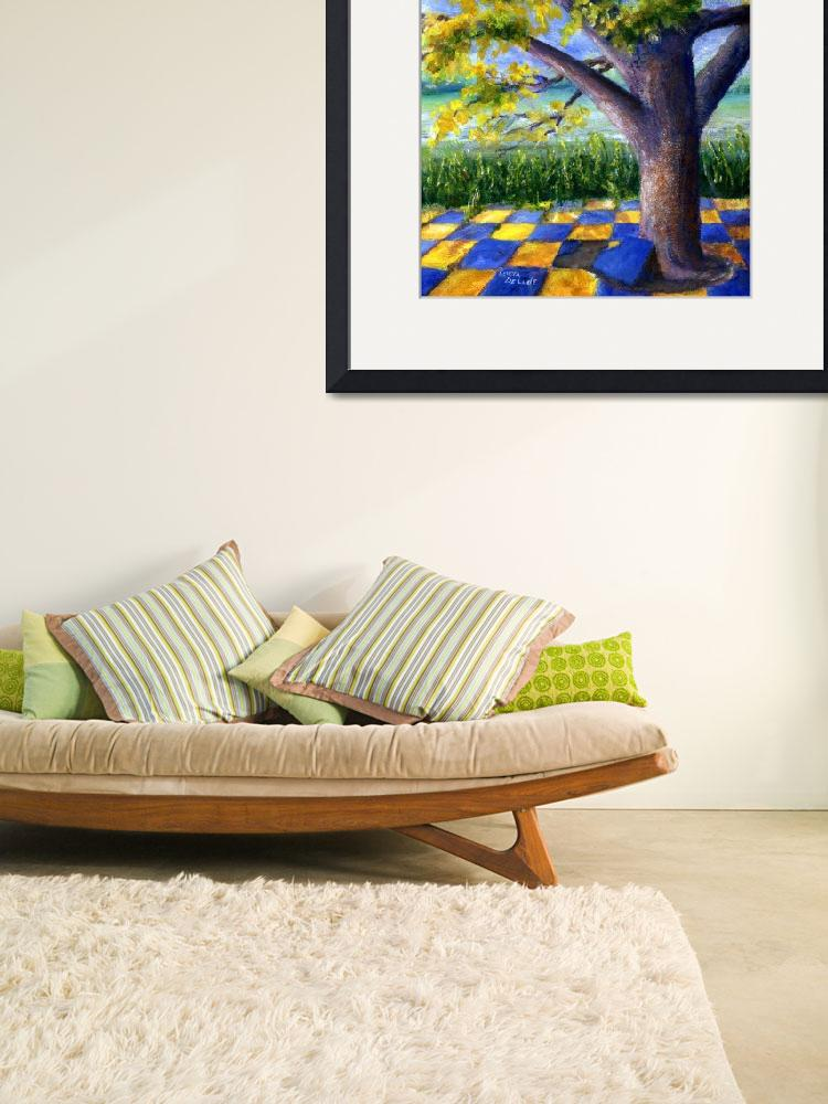 """""""Tree in Yellow and Blue Surroundings&quot  (2006) by Lenora"""
