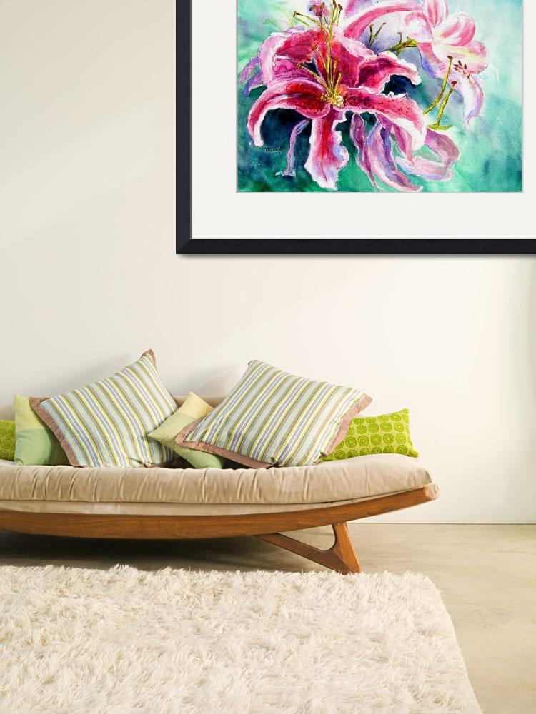 """""""Stargazer Lily&quot  (2006) by MannellGallery"""