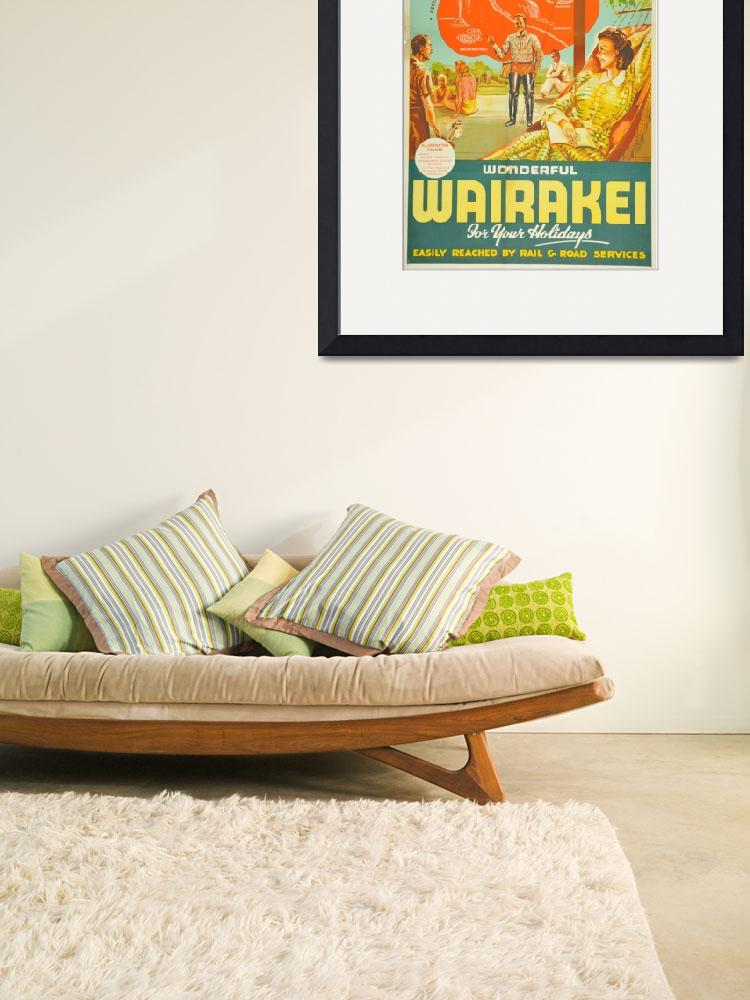 """Vintage Wairakei New Zealand Travel""  by PDGraphics"