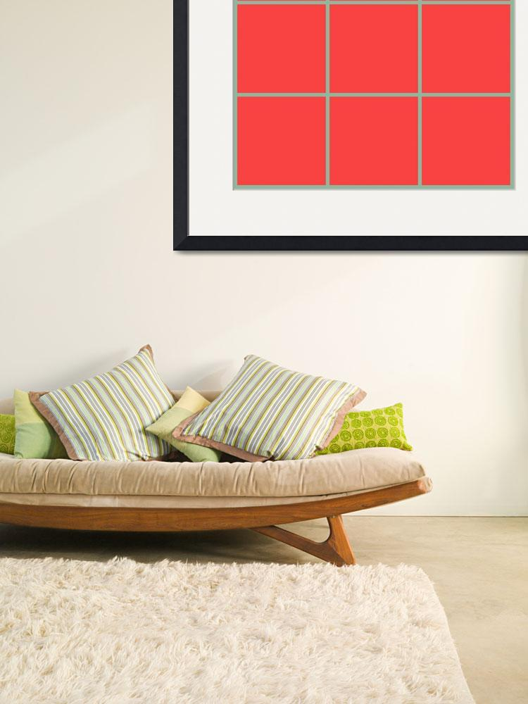"""Red Window 129 Canvas Contemporary Modern""  (2010) by Ricardos"