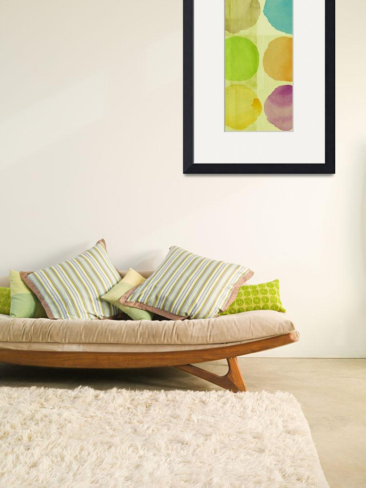 """""""ORL-1615-2 Colorful circles on the green I 30X86&quot  by Aneri"""