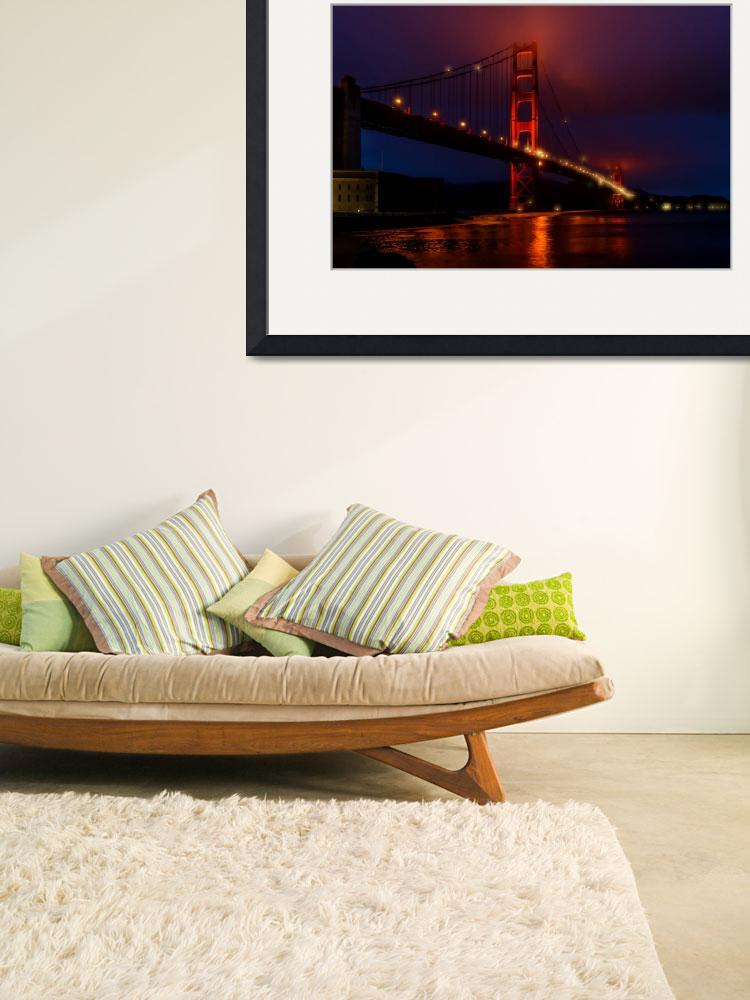 """""""Golden Gate Bridge at Night&quot  (2014) by New-Yorkled"""