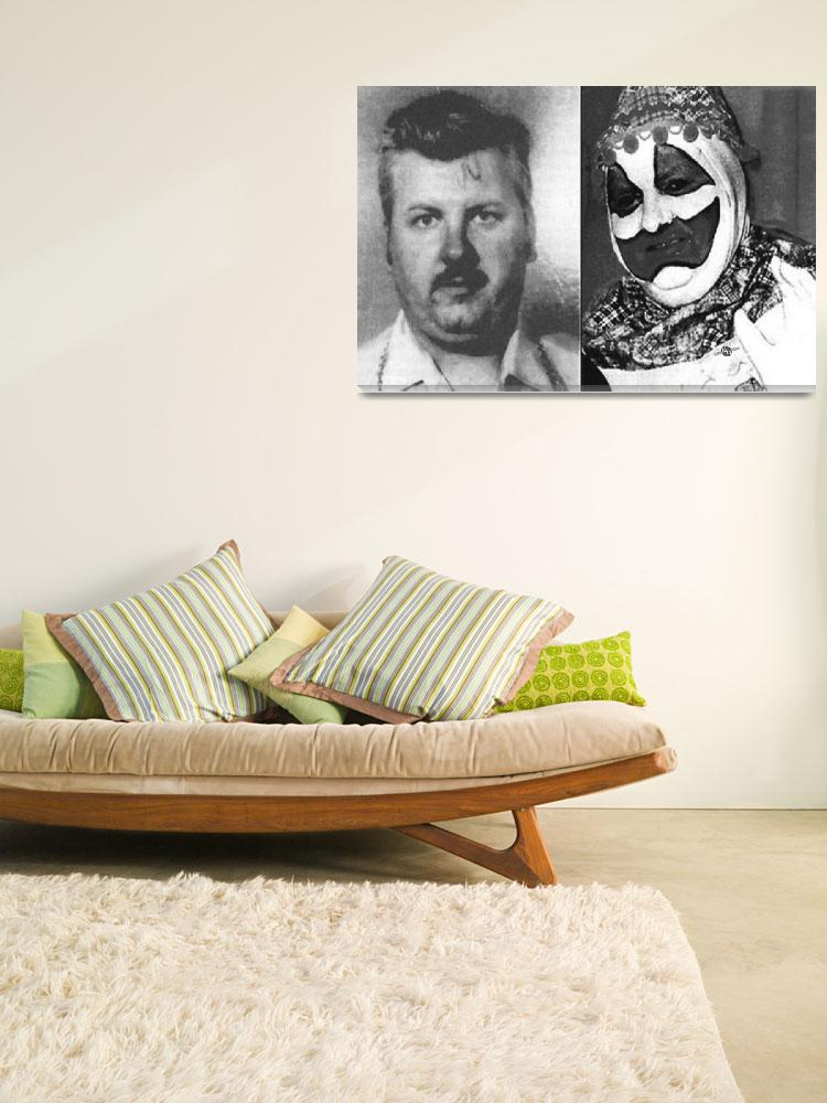 """John Wayne Gacy Mug Shot Serial Killer And Clown 1""  (2016) by RubinoFineArt"