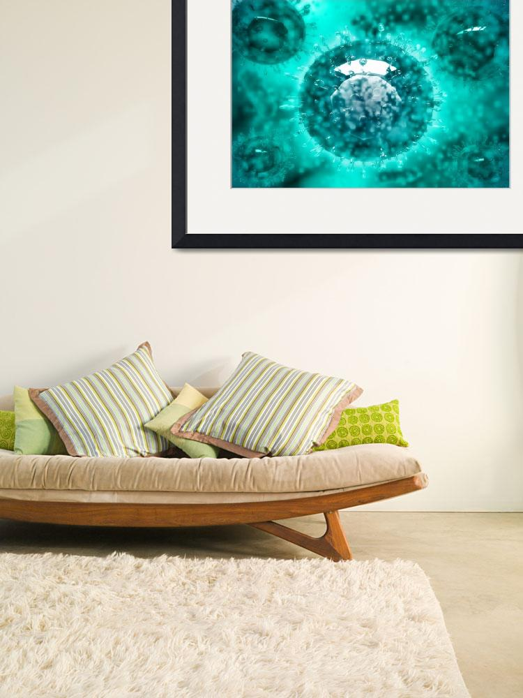 """""""Group of H5N1 virus with glassy view&quot  by stocktrekimages"""
