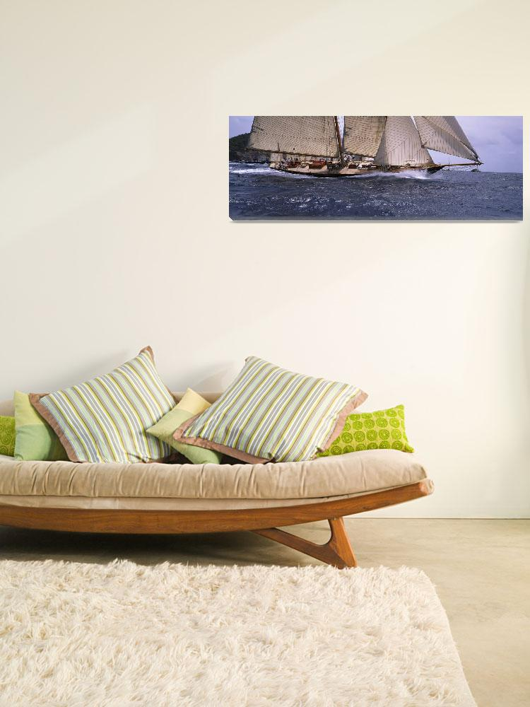 """""""Sailboat in the sea""""  by Panoramic_Images"""