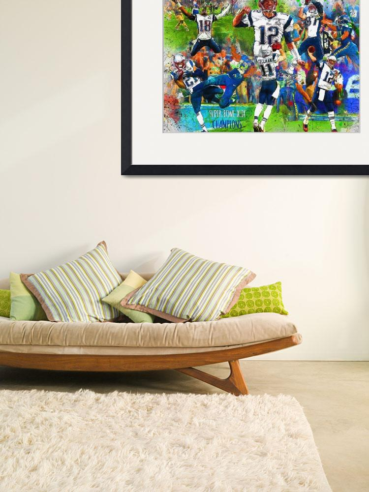 """NEW ENGLAND PATRIOTS SUPER BOWL CHAMPION&quot  (2015) by Big88artworks"