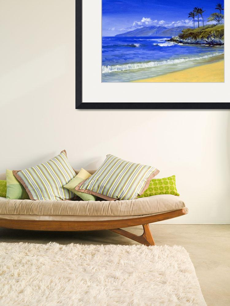 """Waves Breaking At Wailea, Maui""  (2010) by KeatingArt"