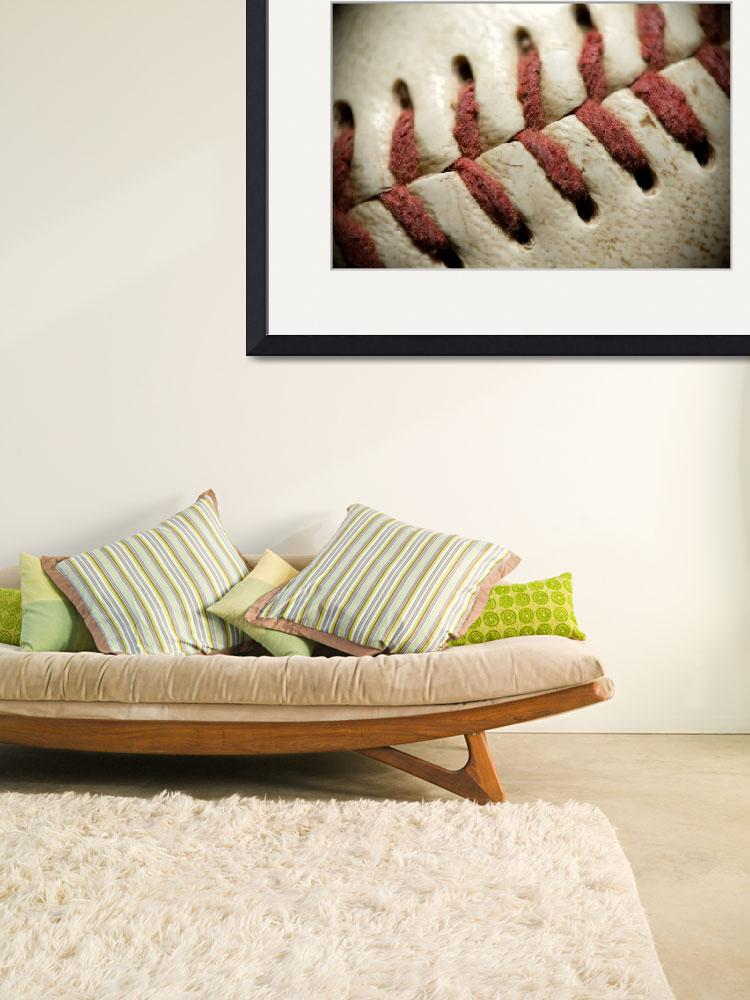 """""""Baseball Stitches&quot  (2011) by SquidPhotos"""