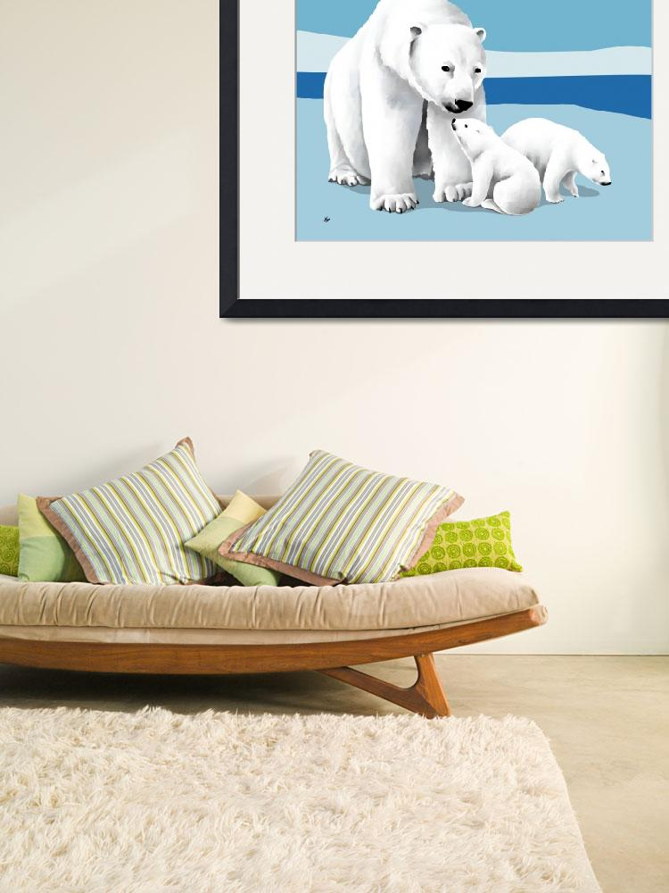 """""""Polar Bear and Cubs&quot  by waterart"""