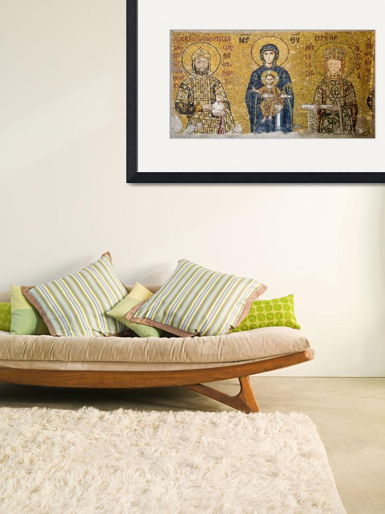 """Byzantine Art Framed Print""  by buddakats1"