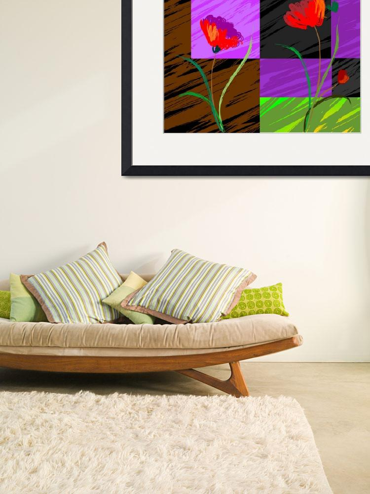 """""""Digital painting of plant and flowers""""  (2009) by digitalpainting"""