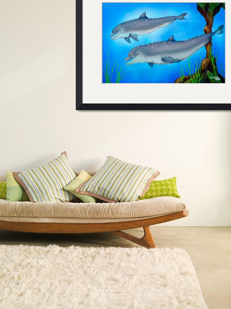 """""""Dolphins""""  (2009) by ChrisLopezArt"""