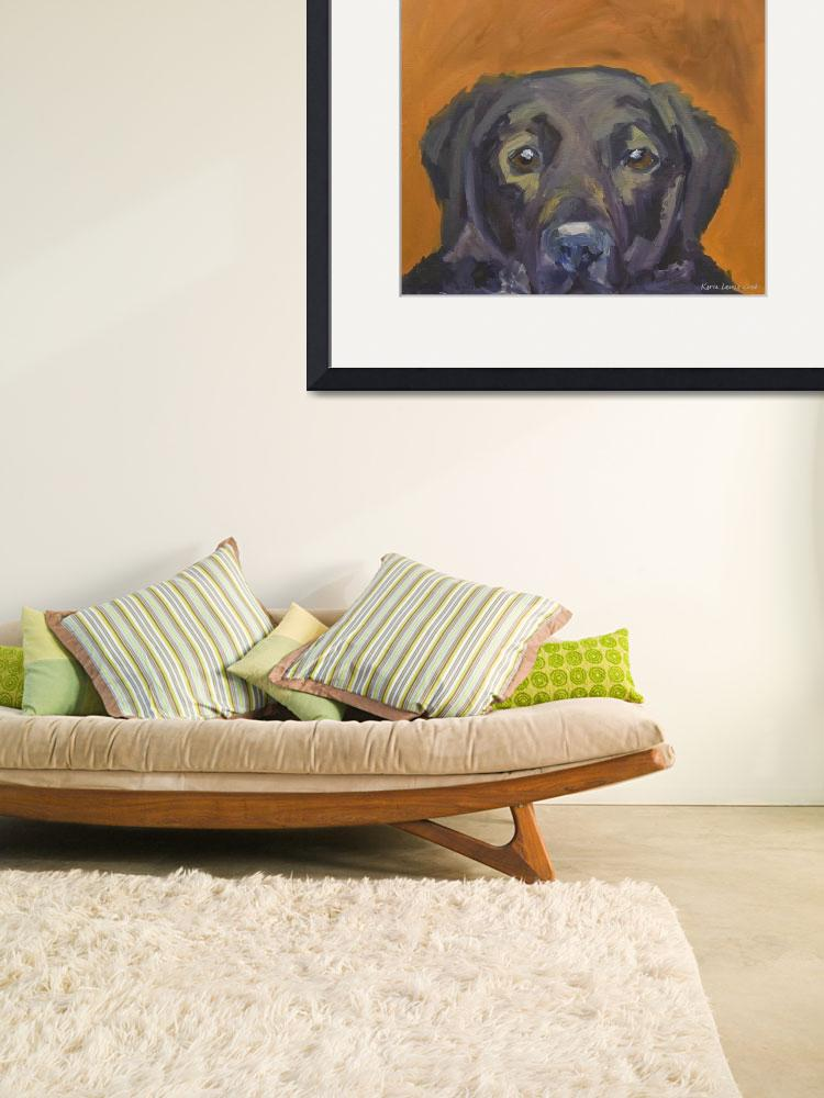 """""""Dogs - Dog, Black - Labs&quot  (2008) by KarinLauria"""