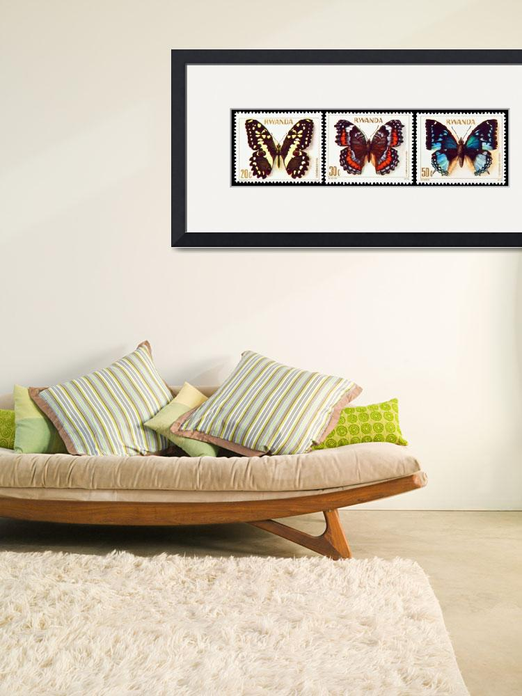 """""""Collection of butterflies stamps.&quot  by FernandoBarozza"""