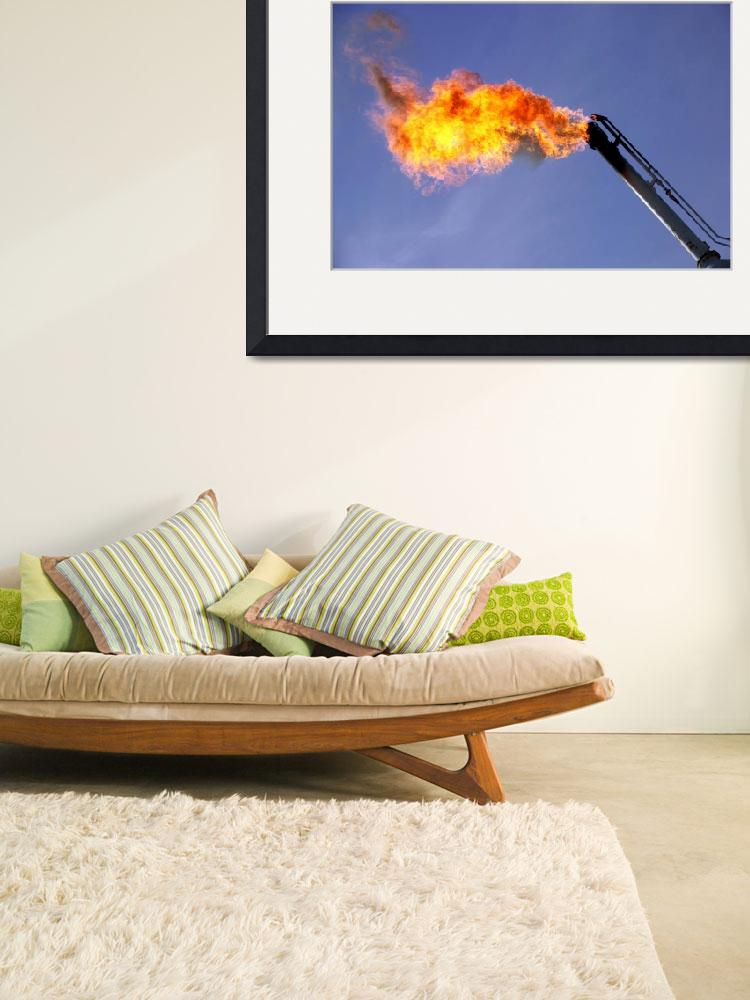 """""""Gas Flare-Oil Industry-Oilfield Framed Photo&quot  (2014) by Tulsa1000"""