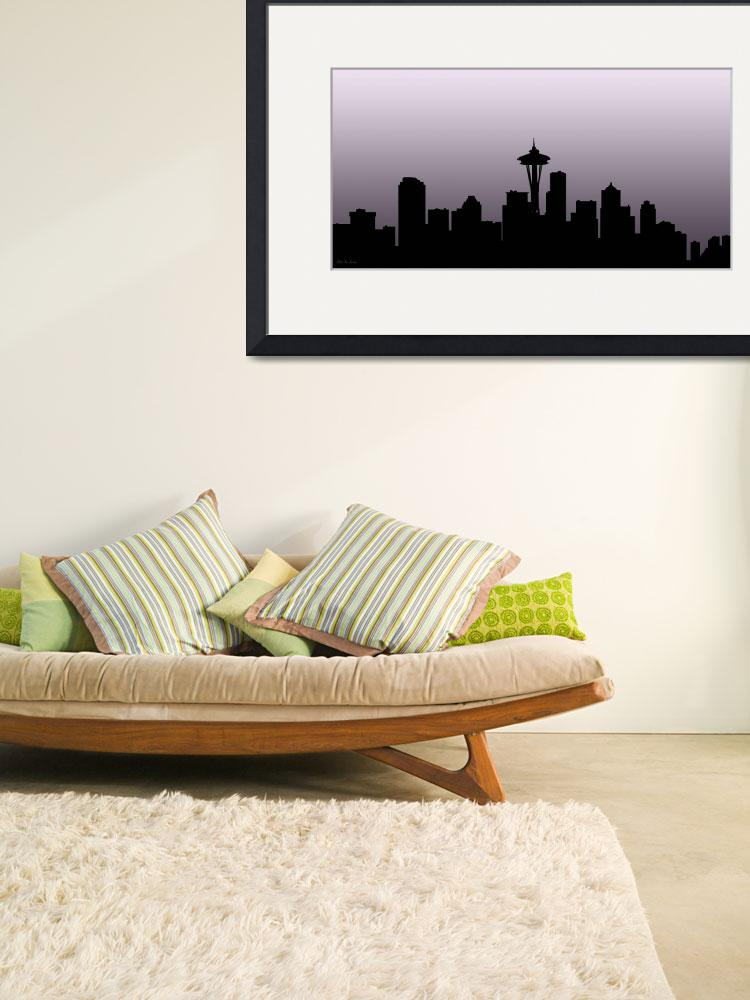 """""""Decorative Skyline Abstract  Seattle T1115X""""  (2015) by MasArtStudio"""
