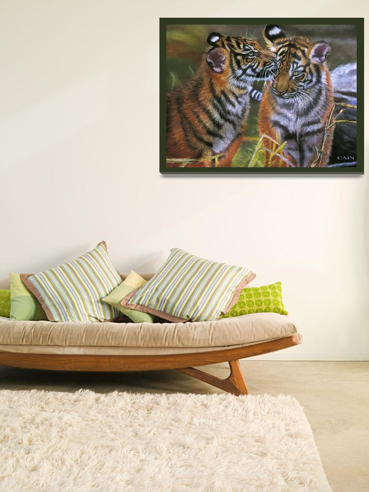 """""""TIGERS IN LOVE&quot  (2010) by artistcain"""
