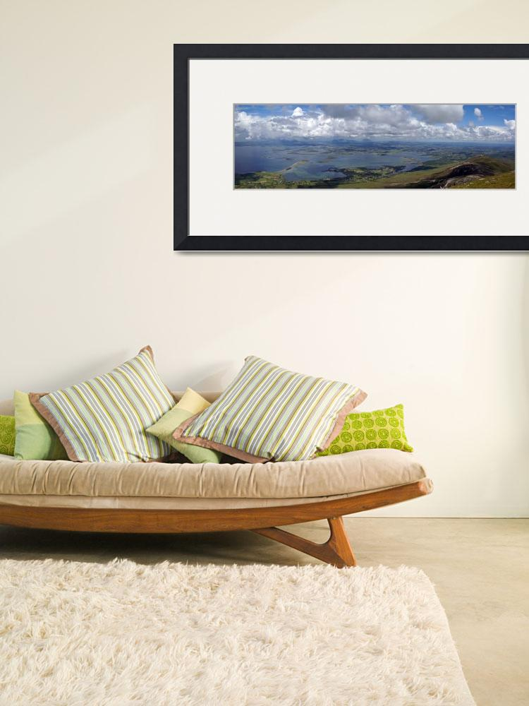 """Croagh Patrick Panorama""  (2009) by staceybassoon"