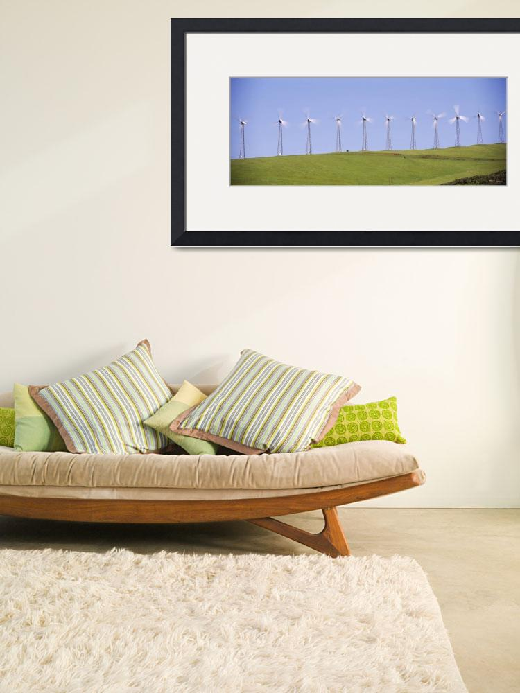 """""""Wind turbines on a hill&quot  by Panoramic_Images"""