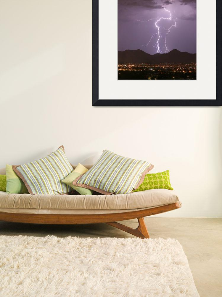 """Double Lightning Strikes Fine Art Photography&quot  (2009) by lightningman"