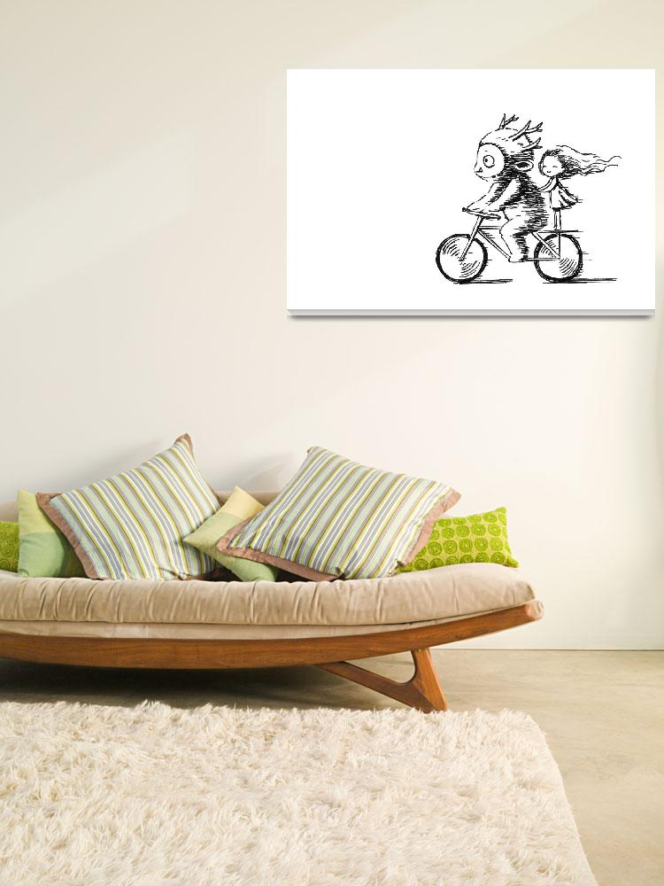 """""""Bicycle Ride&quot  (2012) by freeminds"""