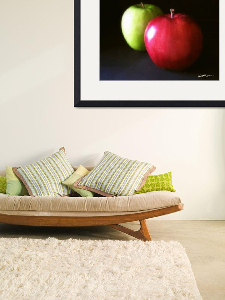"""""""Red and Green Apples 3&quot  (2010) by ChristopherInMexico"""
