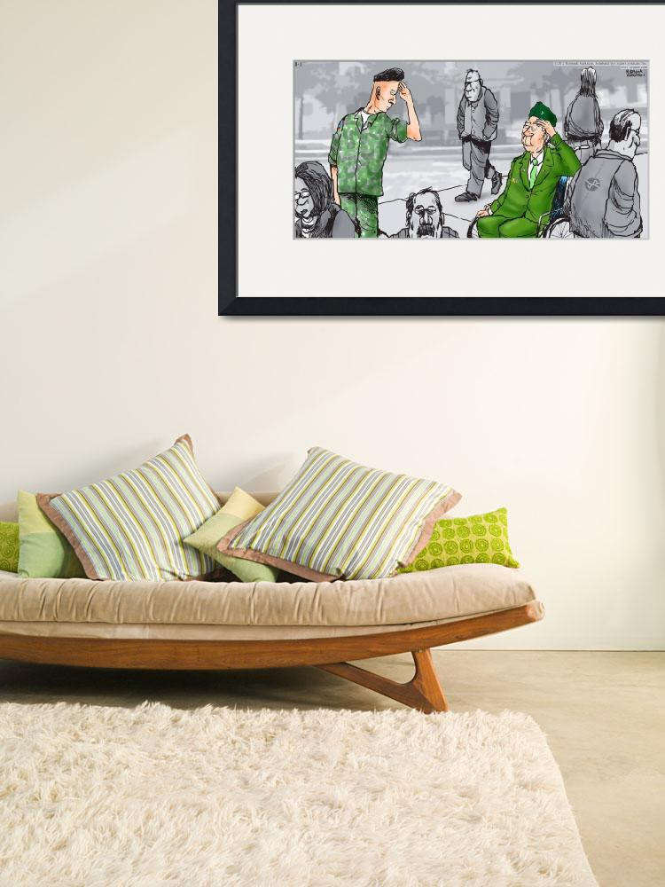 """""""Daddys Home Military Veterans&quot  by RubinoFineArt"""