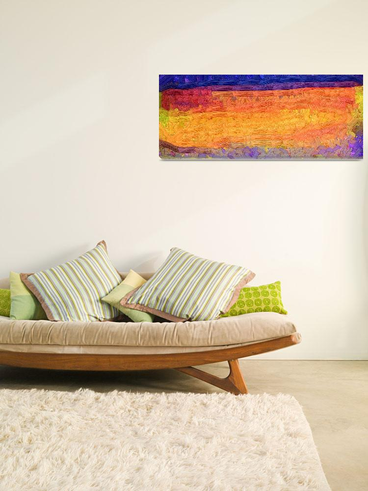 """""""Abstract Sunset&quot  (2012) by Kirtdtisdale"""