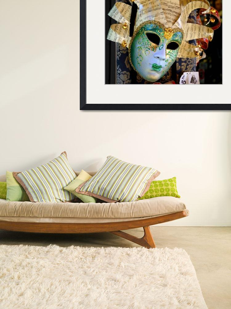 """""""Glittering Venetian Mask with Musical Theme&quot  (2005) by WilshireImages"""