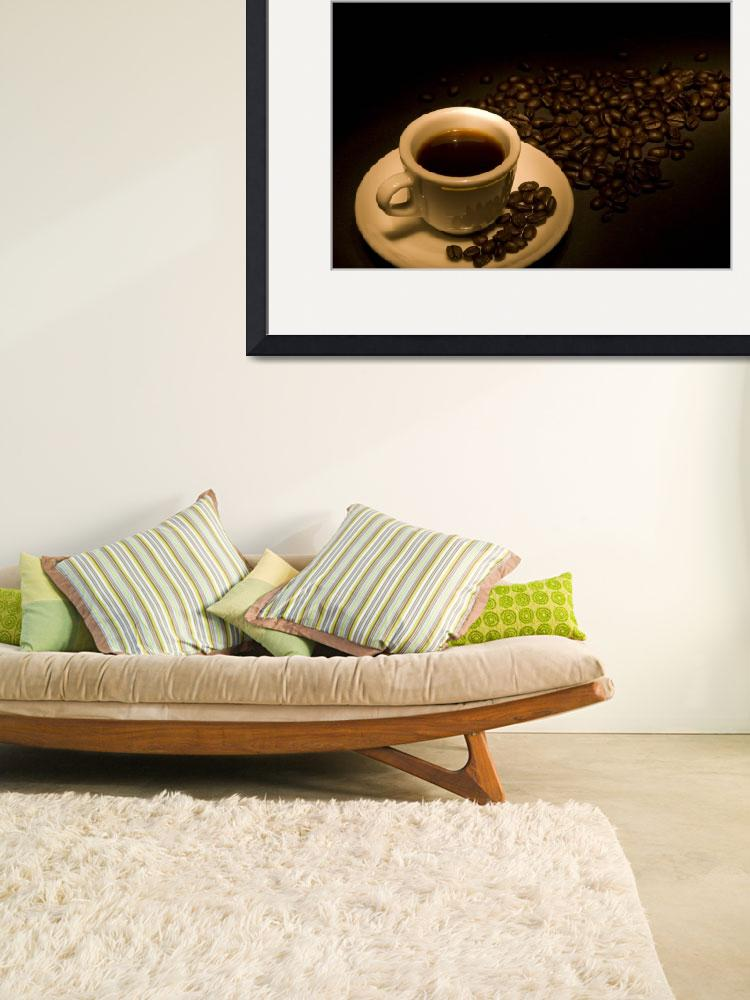 """""""Coffee Beans And Fresh Cup Of Coffee&quot  by DesignPics"""
