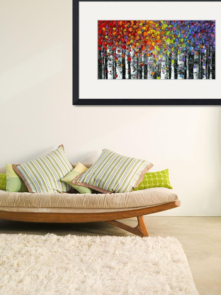"""Modern Landscape Abstract Birch Trees&quot  (2014) by modernhouseart"