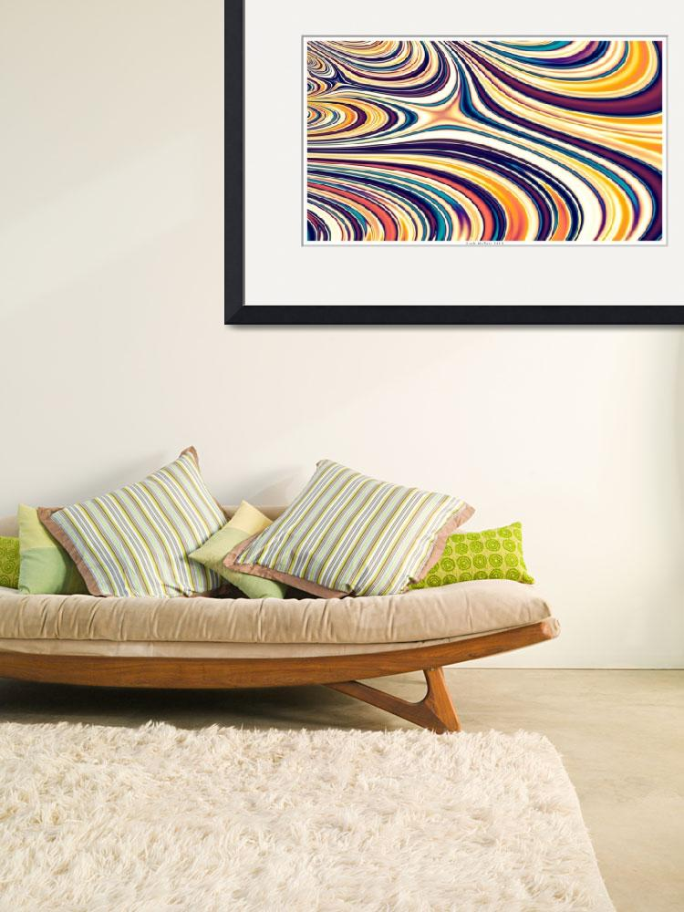 """""""Curved Rounded Lines Flowing&quot  (2013) by LeahMcNeir"""