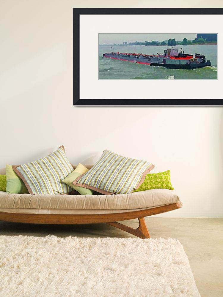 """""""Barge on the Rhine10&quot  (2009) by billbarber"""