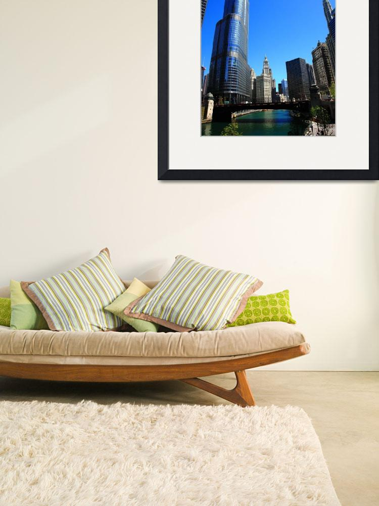 """""""Chicago River and Skyline 2010&quot  (2010) by Ffooter"""