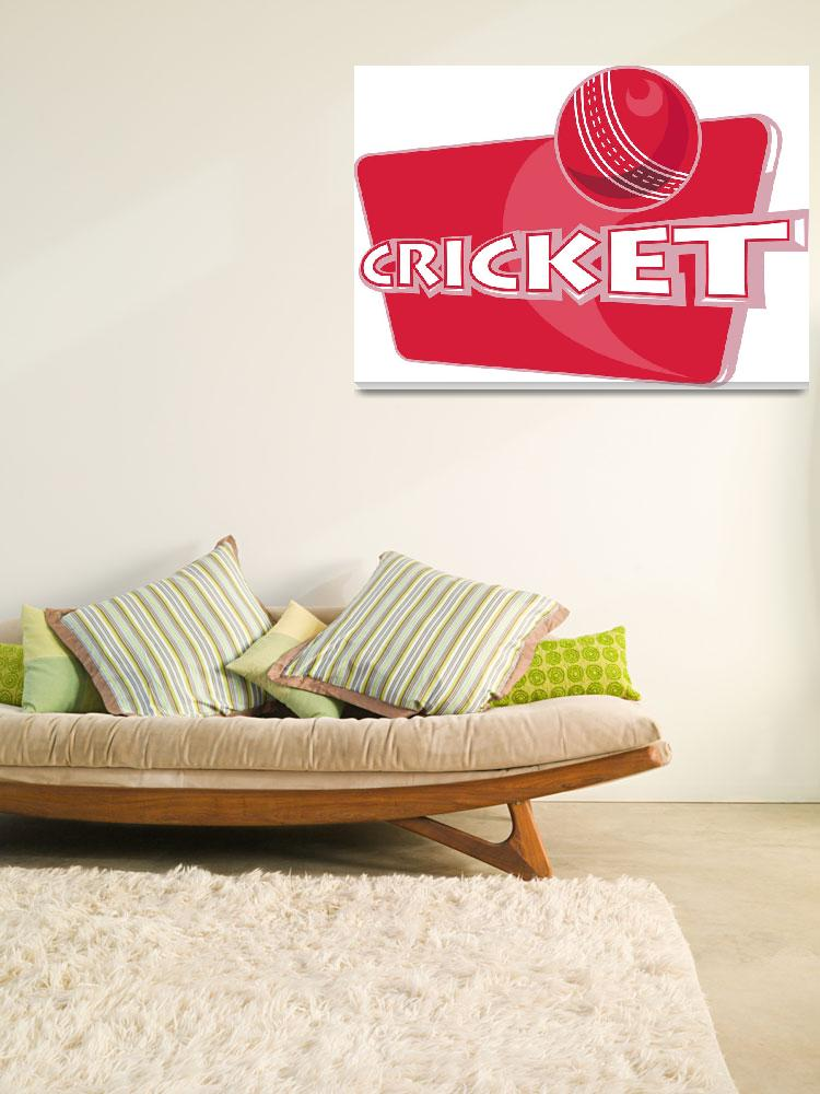 """cricket sports ball&quot  (2013) by patrimonio"