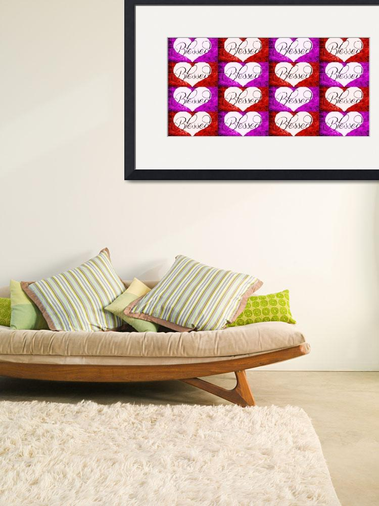 """""""blessed heart red purple checker""""  by lizmix"""