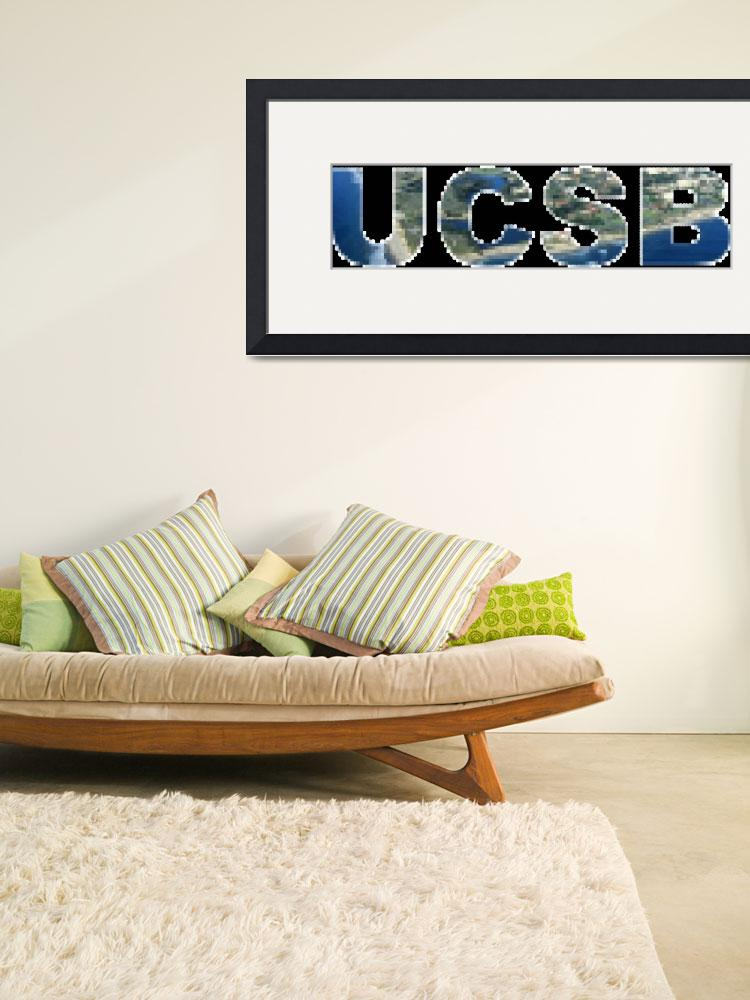 """""""UCSB Tiled Photo Text&quot  (2009) by PeterOliver"""