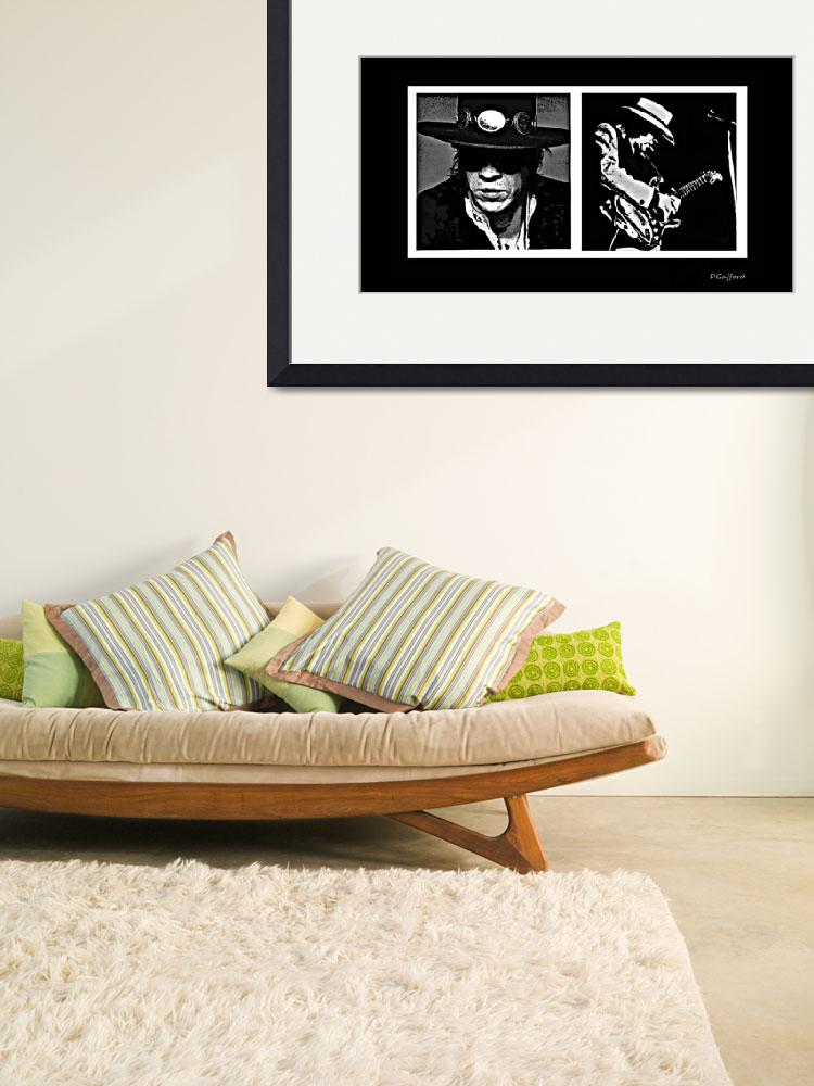 """""""Stevie Ray Vaughn&quot  (2014) by davegafford"""